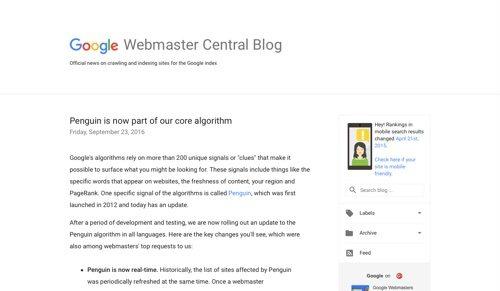 Google Webmaster Central Blog.