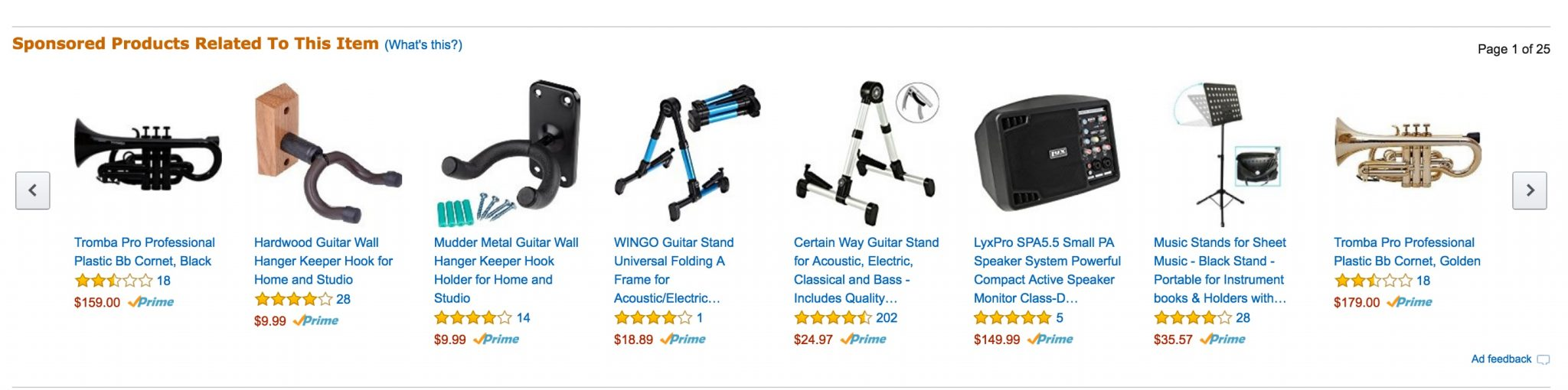 """Sponsored Products ads can also appear in the """"Related"""" section of product pages."""