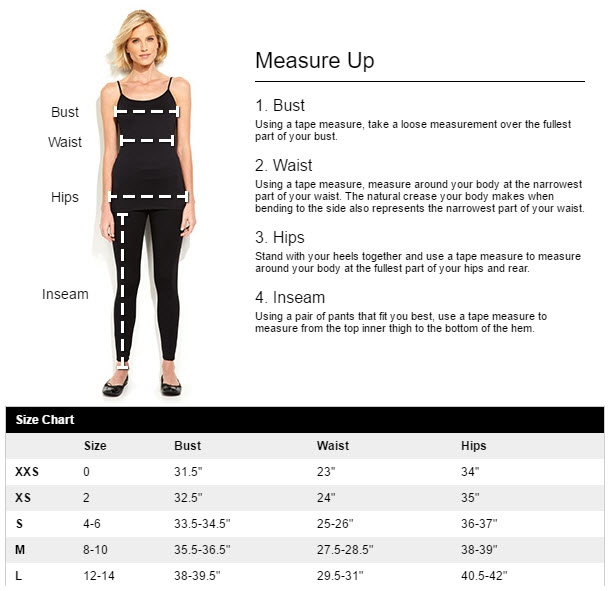 Kohl's provides illustrative instructions on how to measure for a proper fit.