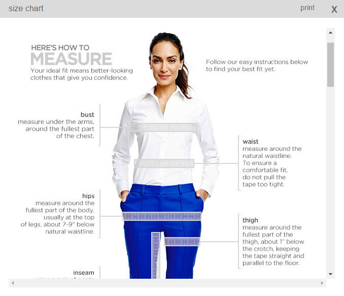 JC Penney explains how to measure.