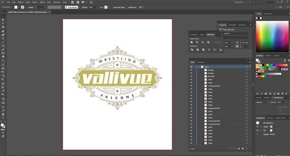 With your design open in Adobe Illustrator, covert the text to outlines.
