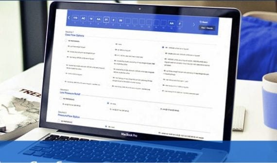 Eaton, furnizorul de gestionare a energiei, permite cumpărătorilor să personalizeze produsele hidraulice online. Cumpărătorii pot apoi să descarce sau să tipărească specificațiile pentru a le distribui distribuitorului.
