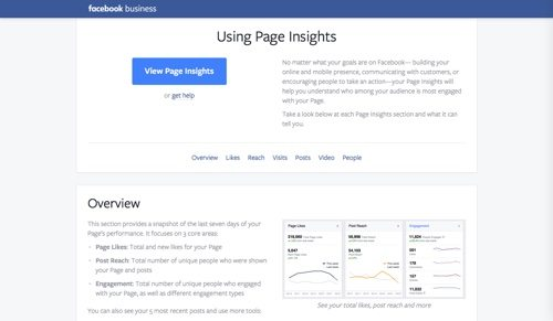 Facebook Page Insights.