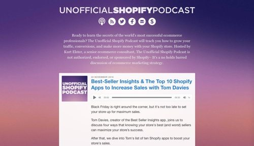 Unofficial Shopify Podcast.
