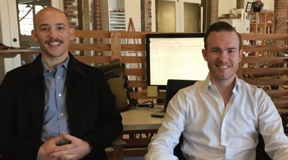 Alex Tapper (left) and David Head are the founders of DesignLive, a startup for Squarespace users.