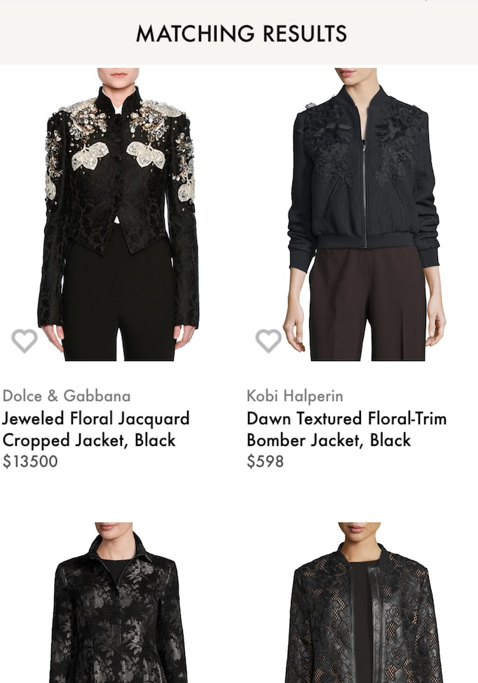 Visual search results at NeimanMarcus.com incorrectly displayed shirts when the author upload a photo of a blanket with a similar pattern.