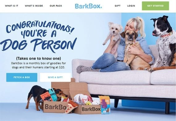 BarkBox sells some of the same products that other stores like Amazon or Walmart do, but it sells those products in a different manner.