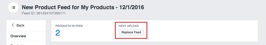 Update your manual feed every few days to account for price changes and out of stock items.