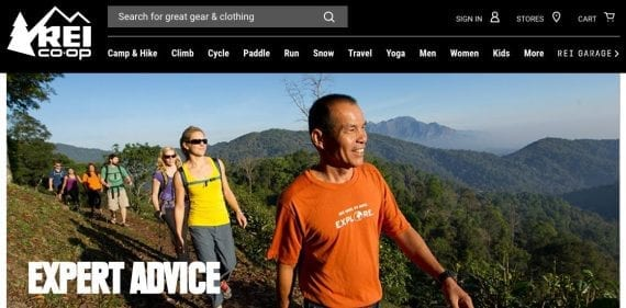 """Outdoor goods retailer REI offers an """"Expert Advice"""" section on its website that seeks to educate the entire community of enthusiasts, rather than sell products solely. As a results, the content is widely shared, discussed, and linked to, which helps natural search rankings."""