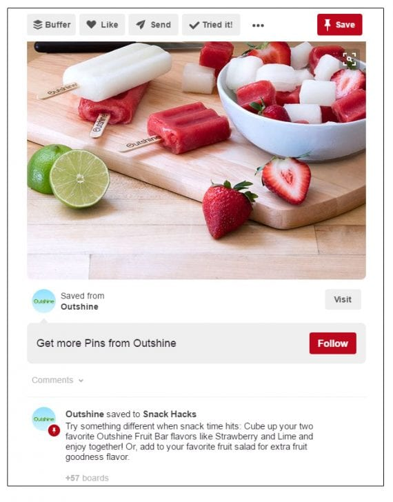 Outshine wants you to try cutting up fruit bars and making a fruit salad.