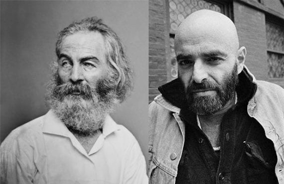 A men's grooming supply retailer could profile famous poets with beards, like Walt Whitman, shown on the left, and Shel Silverstein.