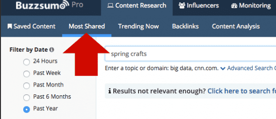 BuzzSumo has several features, including a Most Shared tool, for identifying popular content for a given topics.