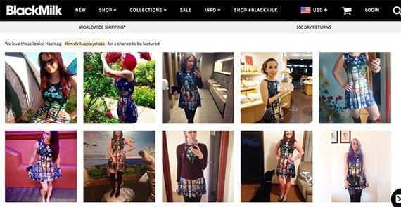 The customer-supplied product images on BlackMilk's site may give new shoppers a better idea of what a product looks like and how it might fit.