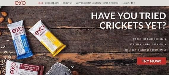 Exo sells cricket-based protein bars. Many potential buyers would likely do some investigating before purchasing, however.