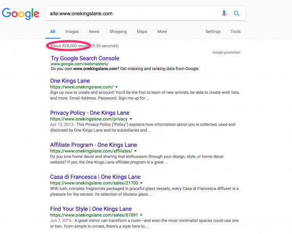 """Type in Google """"site:yoursitename.com"""", and check how many pages are listed as a simple litmus test."""