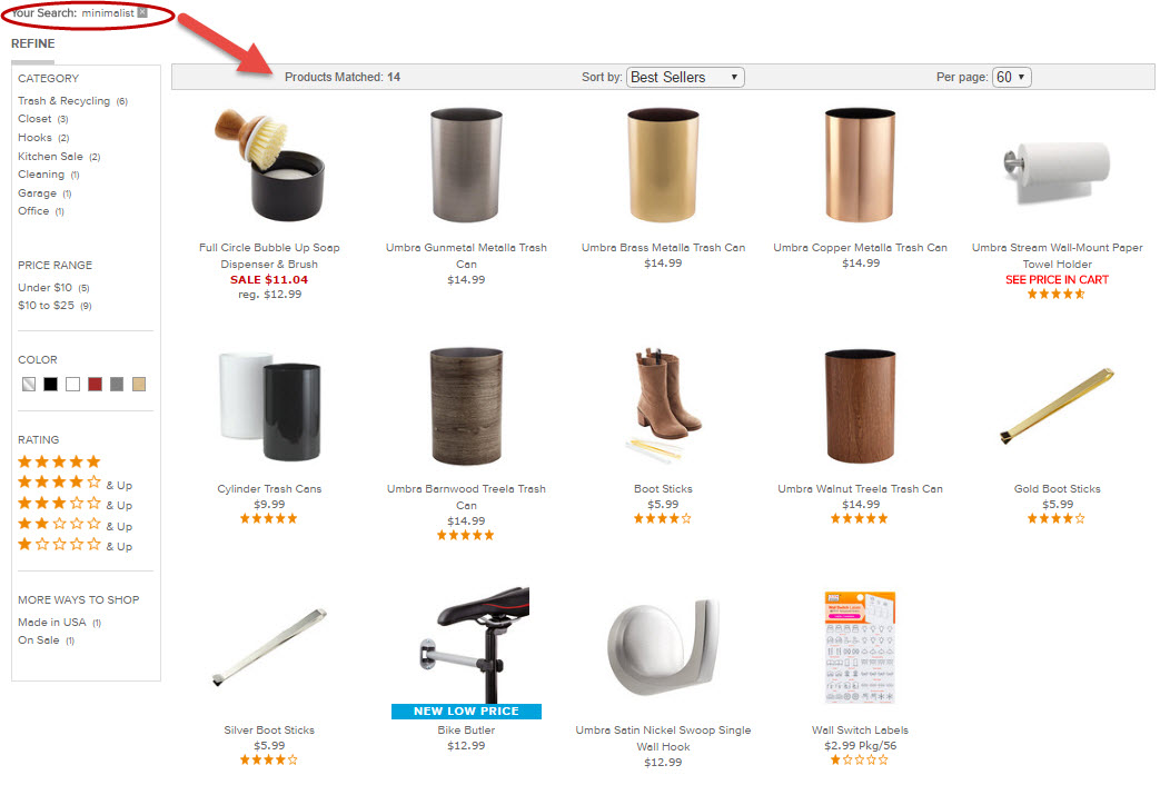 "At The Container Store, the keyword ""minimalist"" returned only 14 items. ""Minimalist organization"" — two words used in thousands of blog titles about the lifestyle — returned only three."