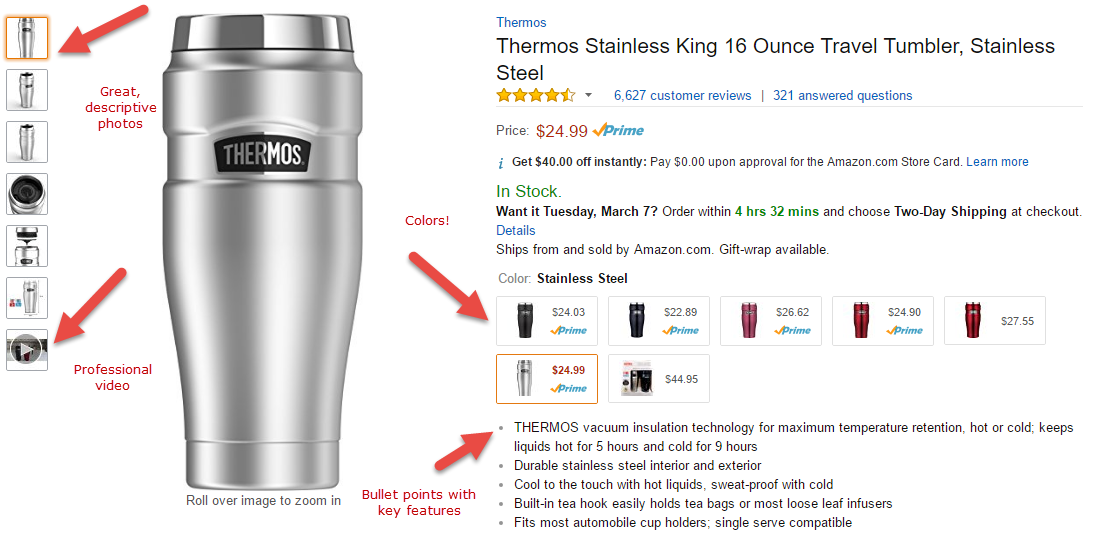 Thermos tumbler key features