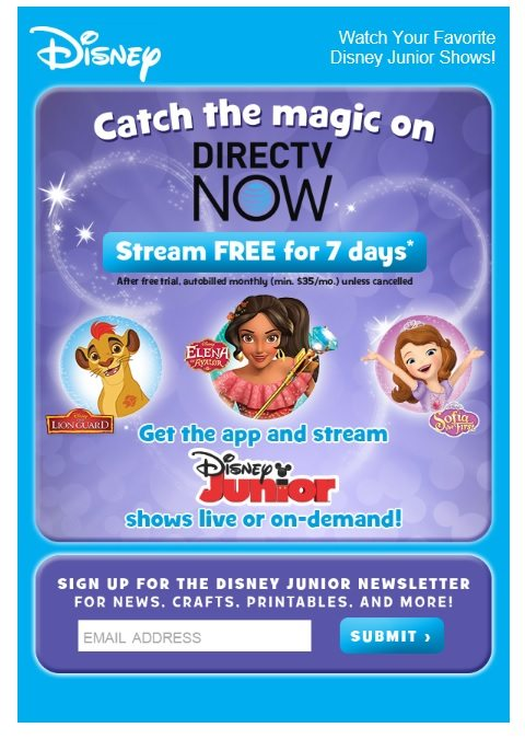 This creative from Disney, promoting its mobile app, would best be sent in the evenings and weekends, when smartphone use is high.