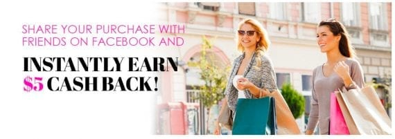 Know Style, a retailer, uses this display ad on its website for a discount on a future purchase for customers that share on social media.