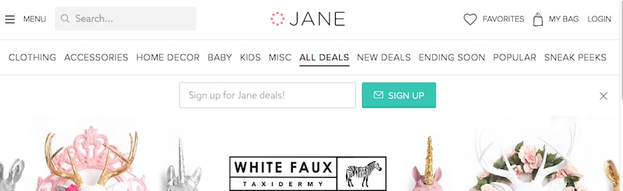 Jane, a boutique marketplace, relies on an in-house affiliate marketing team, which uses two affiliate networks: Impact Radius and ShareASale.