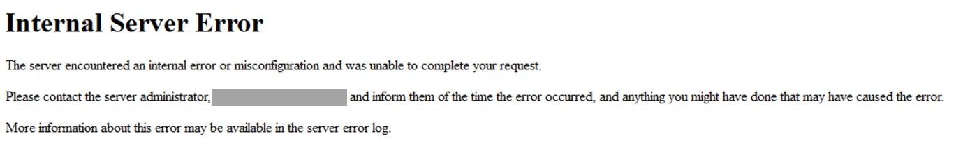 A default 503 error page.