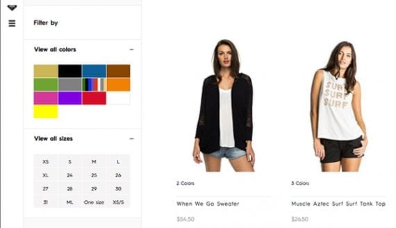 Faceted navigation is popular among shoppers, as it allows them to sort products as they search.