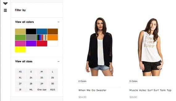 Faceted navigation, alışveriş yapanlar arasında popülerdir çünkü arama yaptıklarında ürün sıralamalarını sağlar.