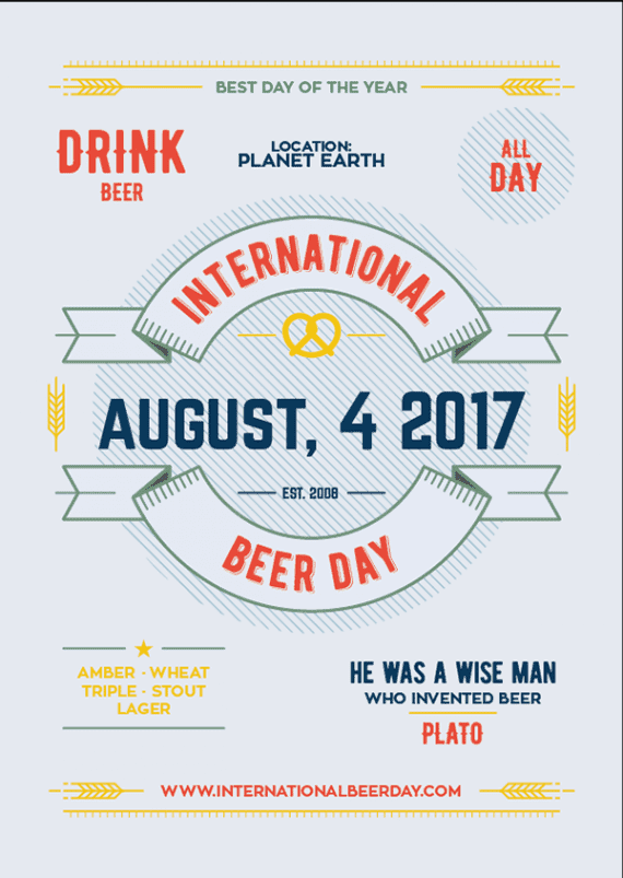 International Beer Day could be the source of several articles.