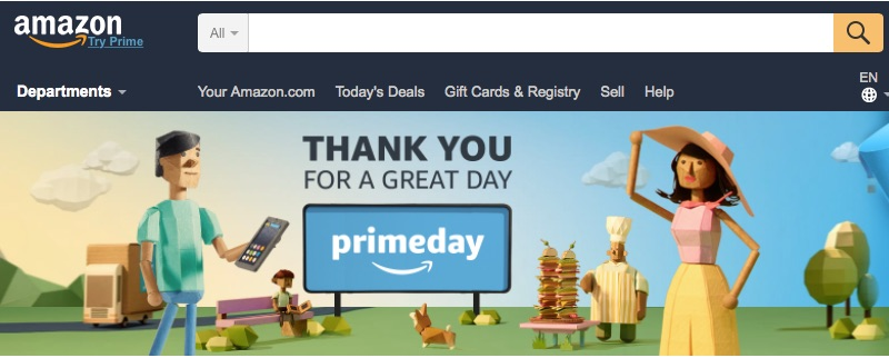 Amazon stated that its Prime Day on July 11 was the biggest sales day in the company's history.