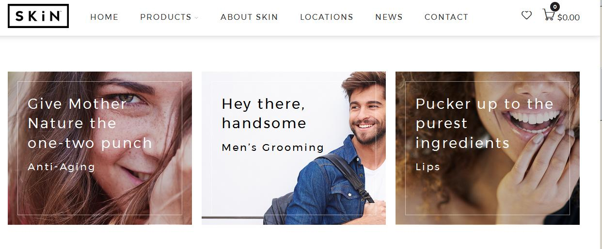 "Notice the brash phrasing on SkinKC's home page: ""one-two punch,"" ""Hey there, handsome,"" ""Pucker up."""