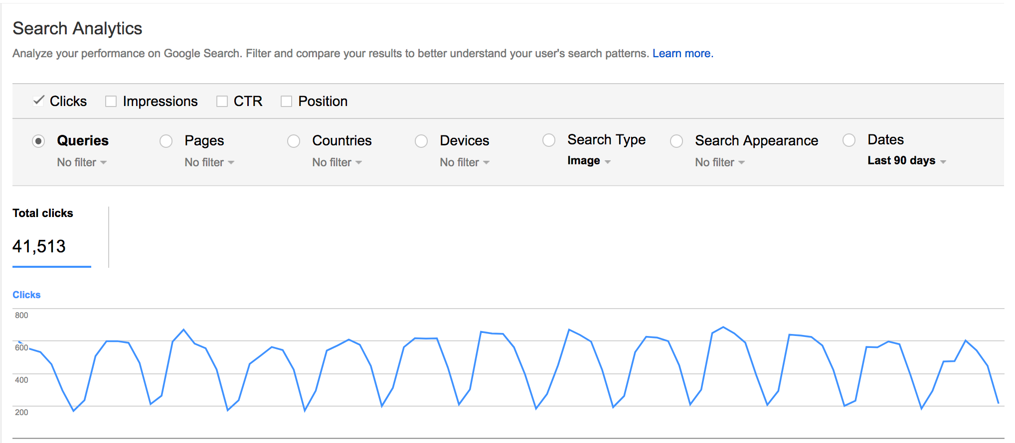 Track image search visits in Google Search Console. Go to Search Traffic > Search Analytics> Search Type: Image.