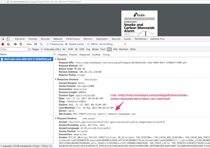 You can verify that the HTTP canonical header is set up correctly using Google Chrome Developer Tools.