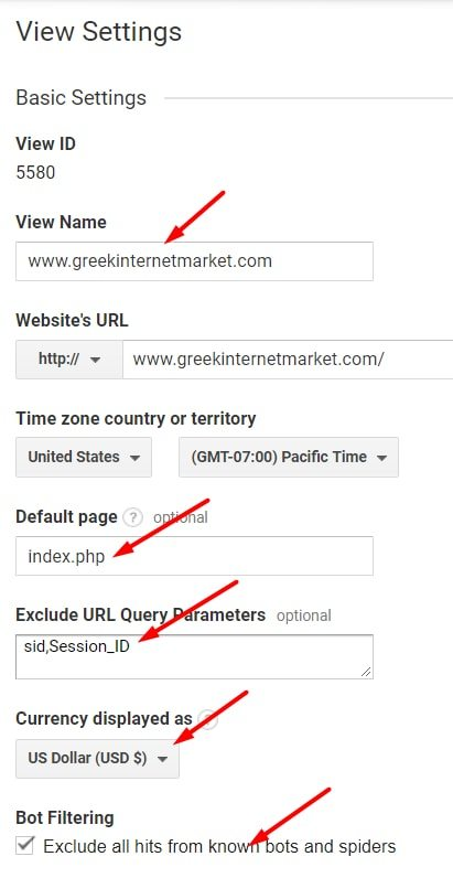 Give your View a descriptive name, such as your home page URL.