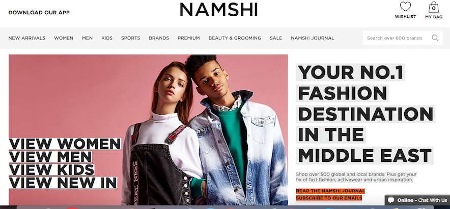 Namshi.com is an ecommerce clothing company based in the United Arab Emirates. Ecommerce penetration in the Middle East is low, providing an opportunity for merchants.