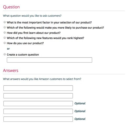 Choose from pre-designed questions or build your own question.