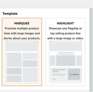 """Storefronts now come with prebuilt templates, such as """"Marquee"""" and """"Highlight."""""""