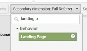 "Apply a secondary dimension by ""Landing Page"" to identify landing pages that could be responsible for tracking issues."