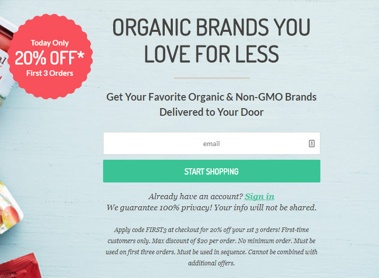 Because of its niche business model, organic foods retailer Thrive Market requires shoppers to create an account before shopping.