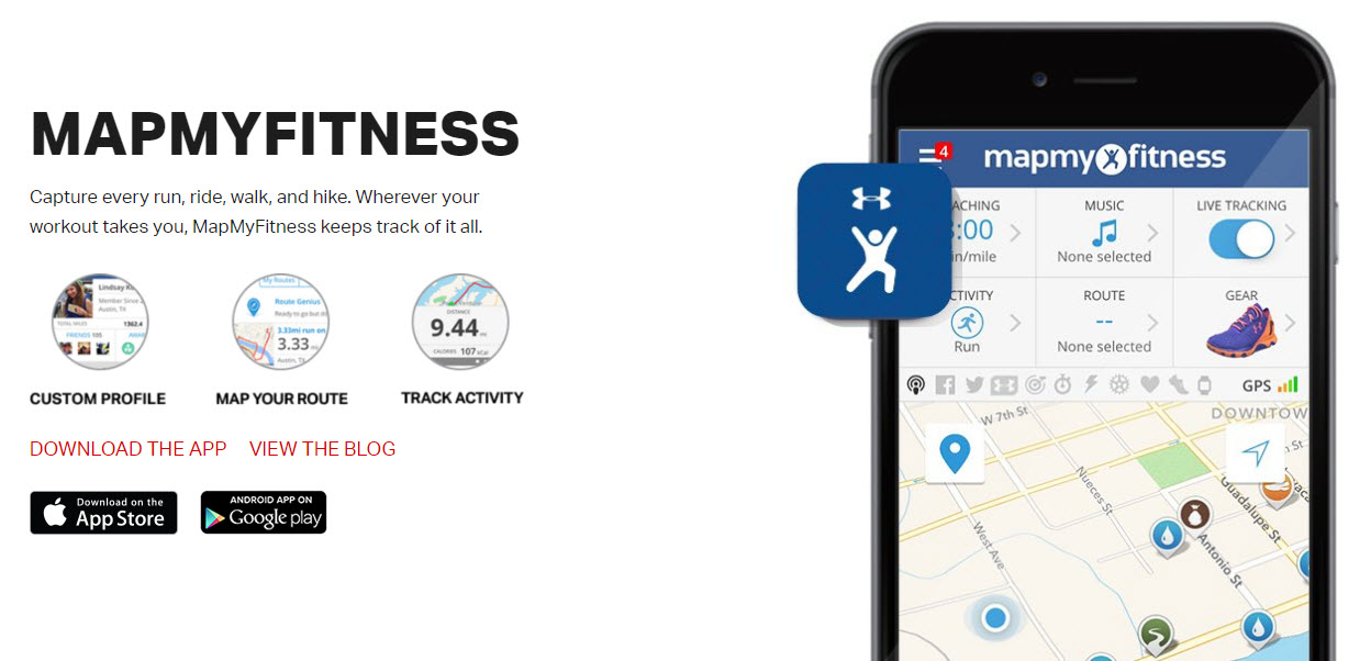 Under Armour heavily promotes usage of its apps. Use of the apps keeps the brand in the user's mind.