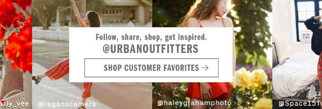 Urban Outfitters is one of the best at curating user generated content.