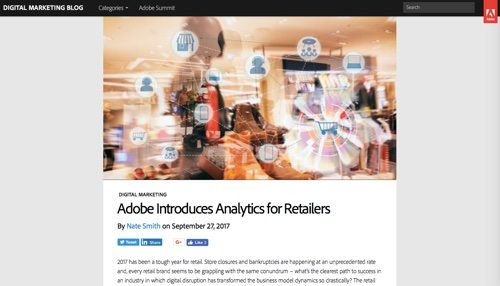 Adobe: Analytics for Retailers.