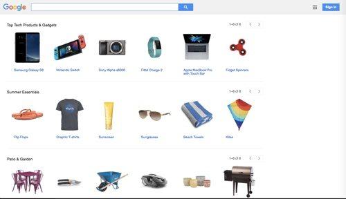 Google Shopping.