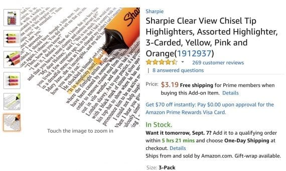 Sharpie's Clear View tip is a helpful improvement to an already successful concept — highlighting text on pages.
