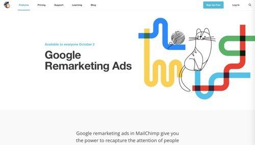 MailChimp: Google Remarketing Ads.