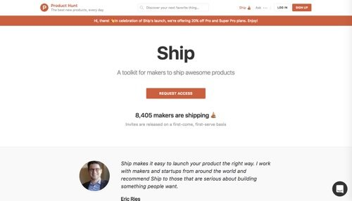 Product Hunt - Ship.