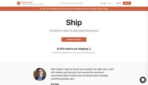 Product Hunt - Ship.