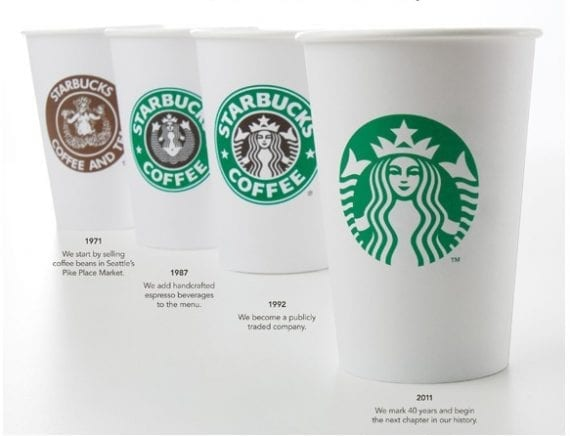 In 2011, Starbucks asked subscribers to vote for a new logo.