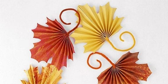 Better Homes & Gardens published a simple set of instructions for making fan-folded papers leaves with children. This guide is just the sort of Thanksgiving how-to content, you might try for your business.