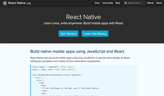 Facebook's React Native is among the very best mobile development frameworks. It allows for the creation of mobile applications with native performance and capabilities.