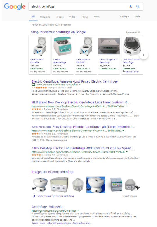 Google Shopping ads can put a product front and center for B2B buyers.